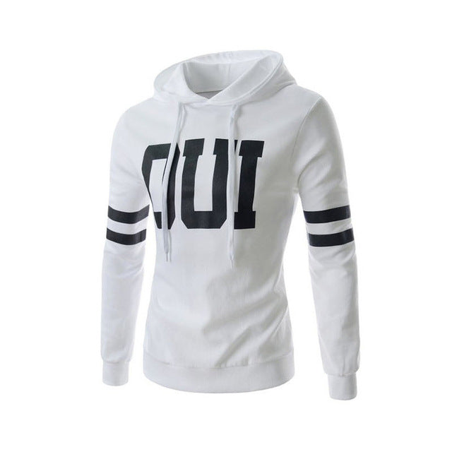 New Arrival Autumn Men Solid Color Hoodies Slim Casual Pullover Sweatshirts