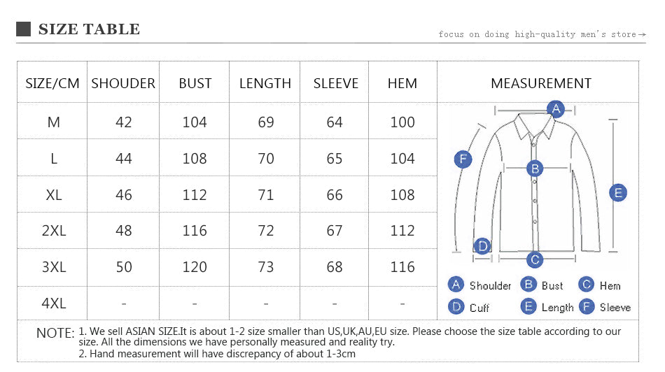 New Fashion Men Denim Shirt Long Sleeve Gradient Color Slim Fit Shirt Multiple Pockets Dress Shirts