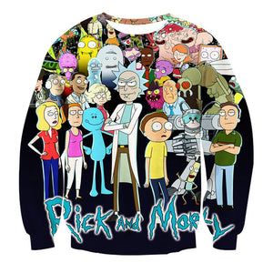 New Women/Men Crewneck Cartoon 3D Print Sweatshirts