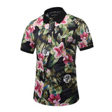 New Summer Men Beautiful Flowers Graphic 3D Print Polo Shirts