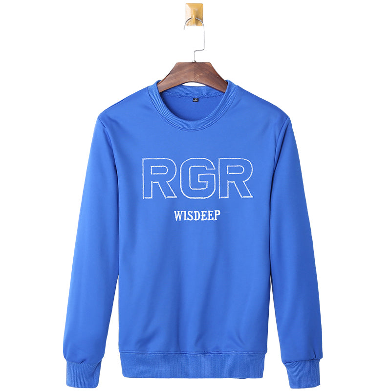 New Spring Men's Casual Long Sleeve Solid Color Sweatshirts