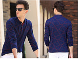 New Spring Autumn Men Style Long Sleeve Polo Shirt Irregular Stretch Comfort Cotton Polos