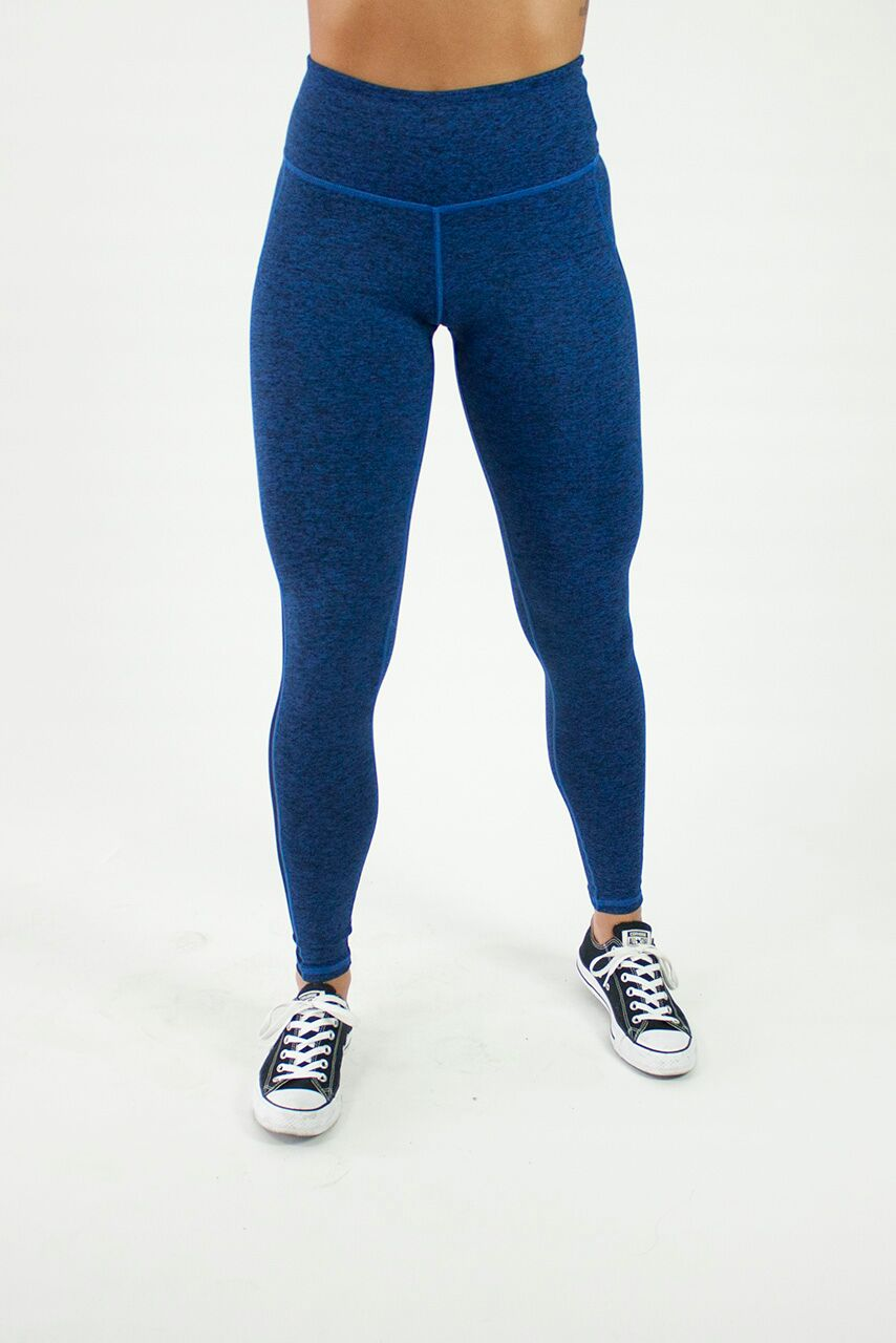 Royal Blue Grace Side Mesh Legging