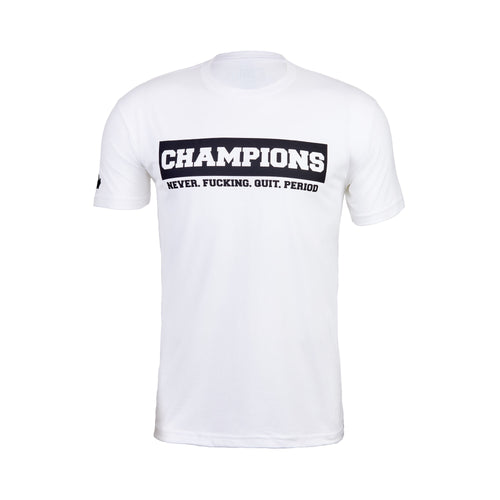 White And Black Champion Tee