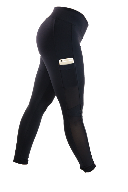 Black Side Pocket Lifestyle Legging