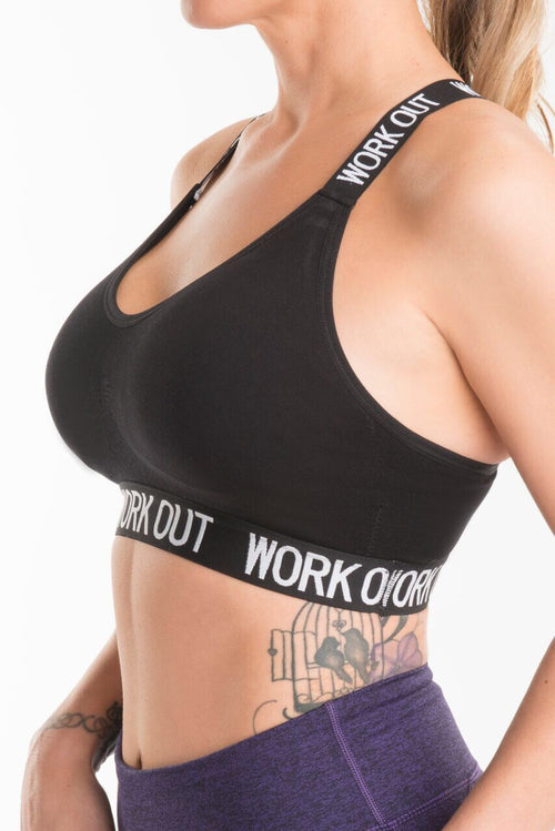 Black Work Out Bra