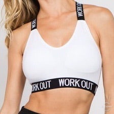 White Work Out Bra