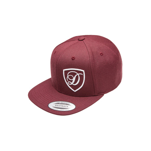 Maroon and White Snapback