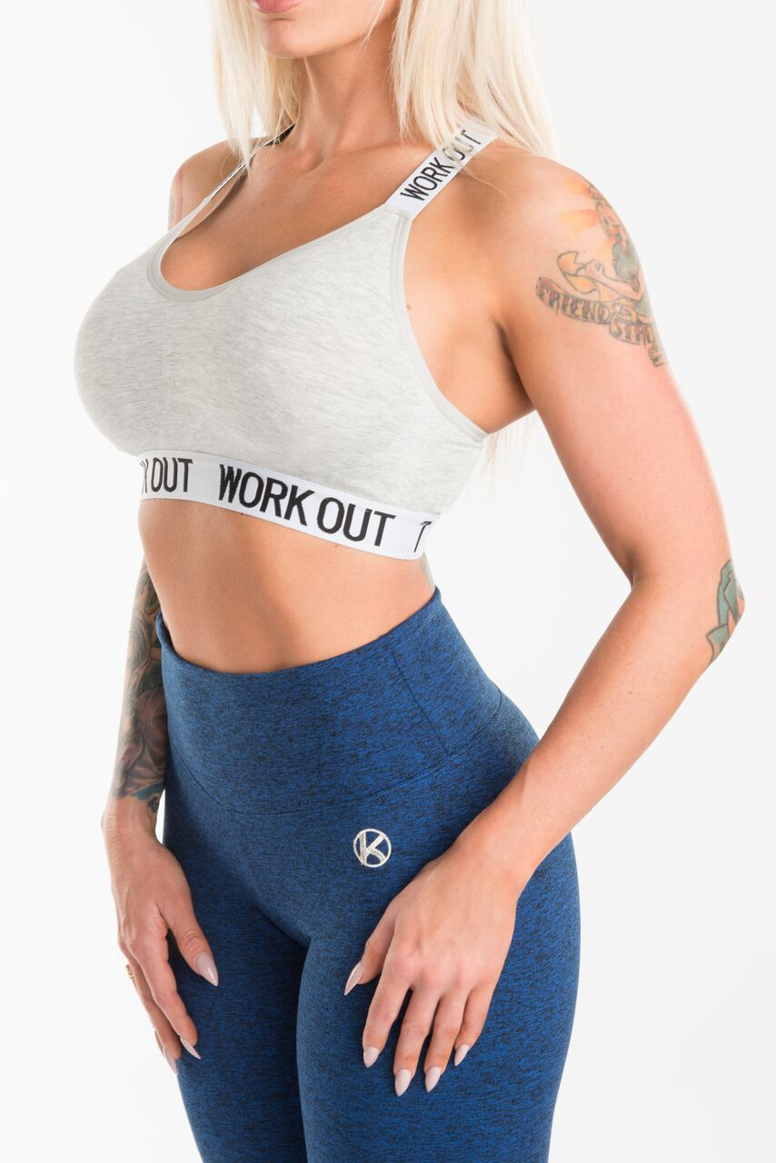 Grey Work Out Lifestyle Bra