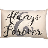"Always & Forever 14"" x 22"" Pillow"
