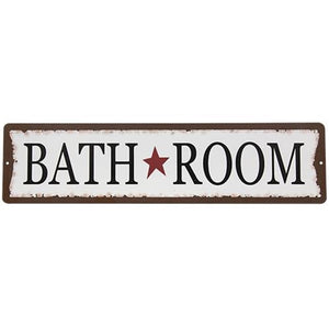 "Bathroom 20"" Metal Sign"
