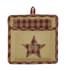 Believe Star Pocket Potholder Set