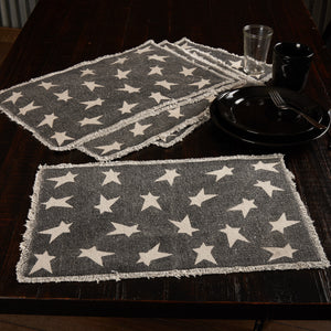 Primitive Star Black Placemats - Set of 6
