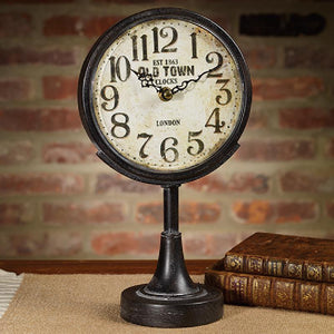 Black Pedestal Clock