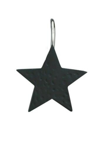 Black Star Shower Curtain Hooks by Park Designs