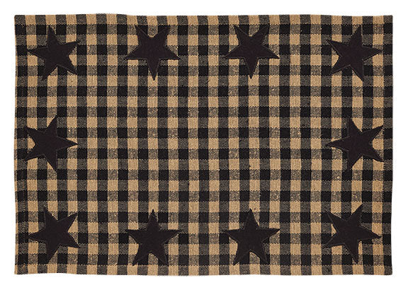 Black Star Woven Placemat - Set of 6