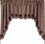 Black Star Scalloped Swags - Set of 2