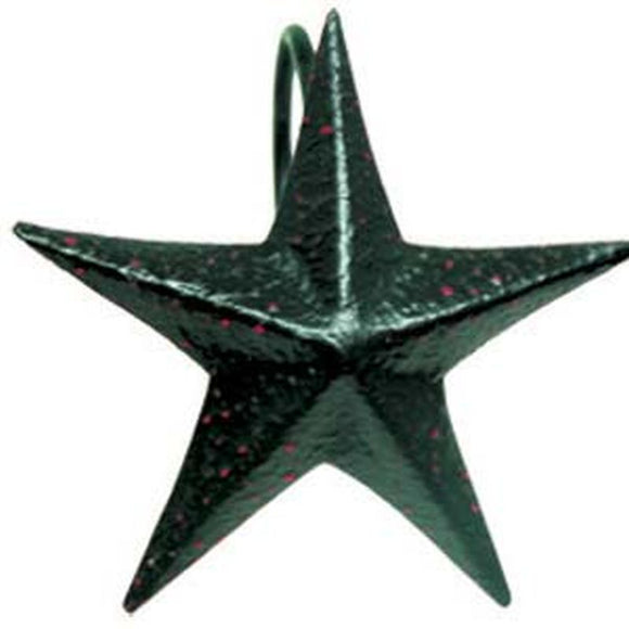 Black Star Shower Curtain Hooks