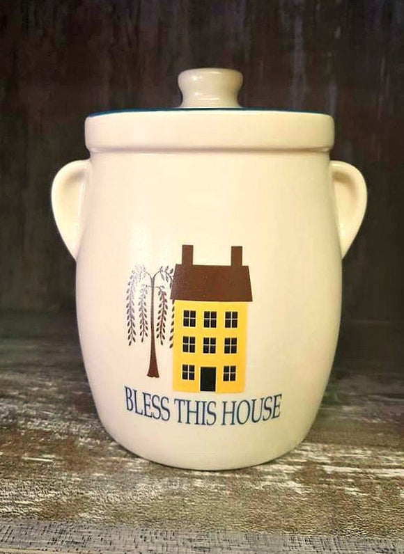 Bless This House Salt Box House Canister
