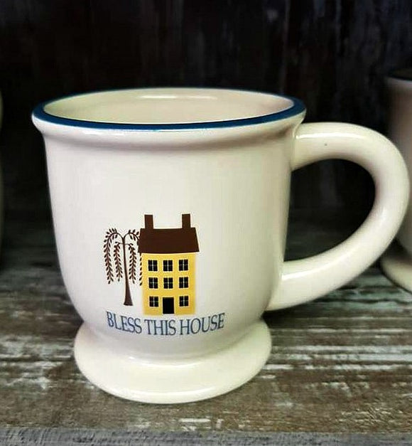Bless This House Salt Box House Jumbo Mug