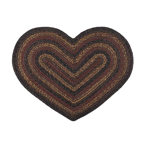 Braided Slate Heart Rug