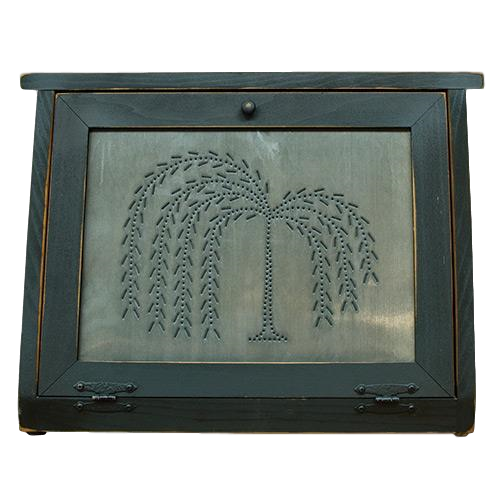 Burnished Willow Tree Bread Box