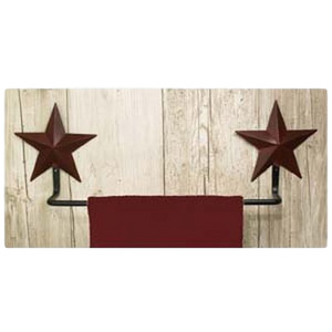 Burgundy Star Towel Holder