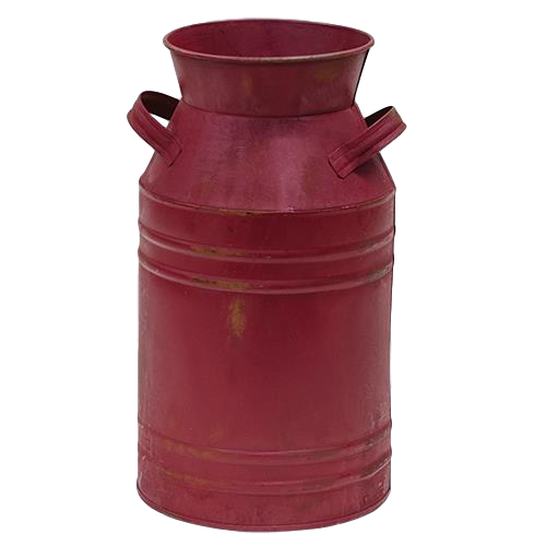 Burgundy Milk Can