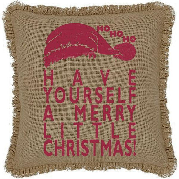 Have Yourself A Merry Little Christmas Large Pillow