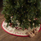 "Burlap Santa 48"" Tree Skirt"