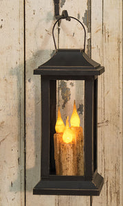 Burnt Ivory Three Taper Timer Lantern