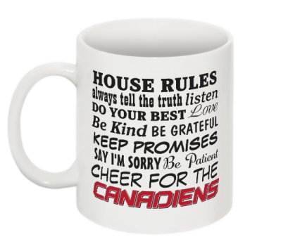 House Rules- Cheer for the Canadiens Mug