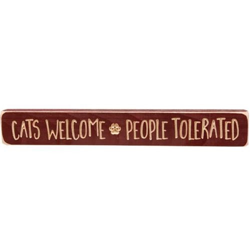 Cats Welcome People Tolerated 12