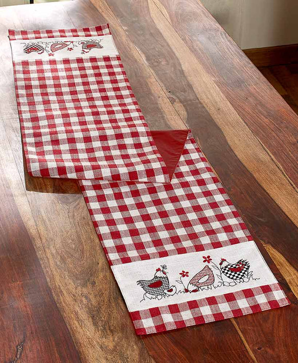 Country Hens Farmhouse Runner