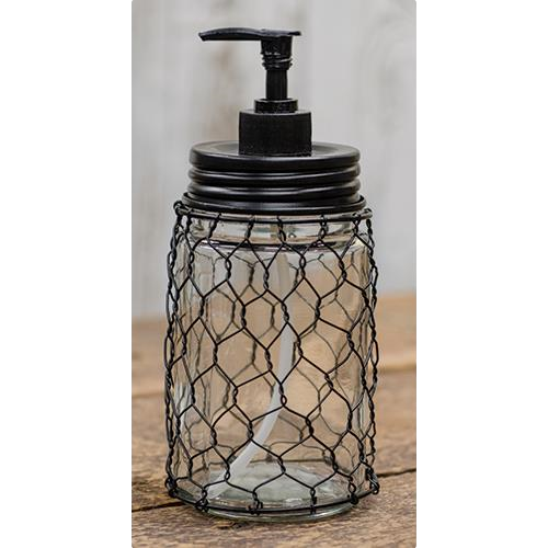 Farmhouse Chicken Wire Soap Dispenser