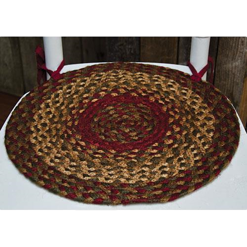 Cinnamon Braided Chair Pad
