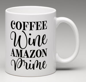 Coffee Wine Amazon Prime Mug