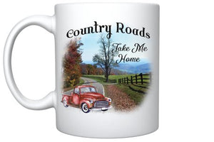 Country Roads Take Me Home Vintage Truck Mug