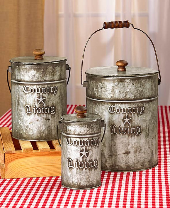Country Living Canisters Set
