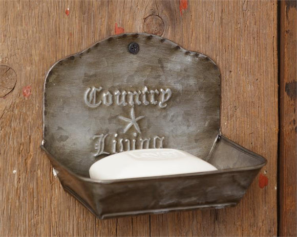 Country Living Tin Soap Dish