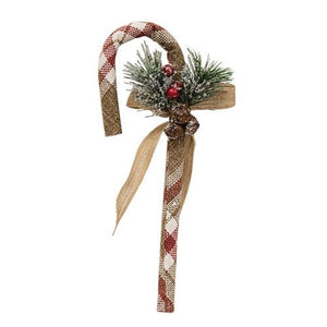 "Cranberry 12"" Candy Cane"
