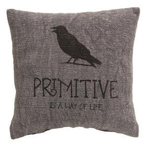Primitive Black Crow Pillow