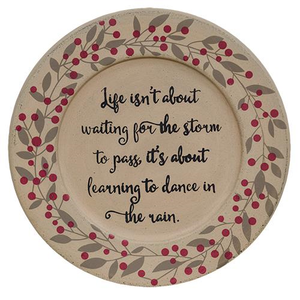 Dance In The Rain Decorative Plate