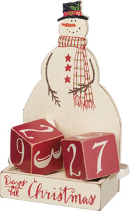 Snowman Block Countdown by Primitives By Kathy