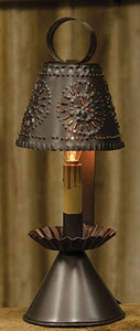 "14"" Electric Colonial Style Tin Lamp and Shade"