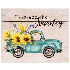 Embrace The Journey Pallet Art With Truck