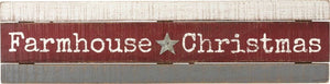 Farmhouse Christmas Slat Wood Sign by Primitives by Kathy