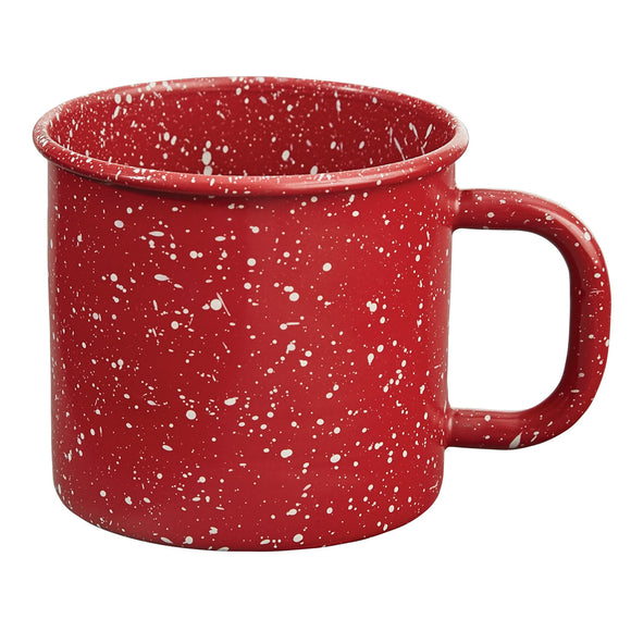 Red Granite Enamelware Farmhouse Mug