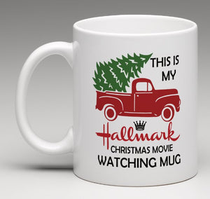 "Personalized ""This Is My Hallmark Christmas Movie Watching Mug"""