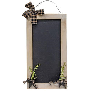 White Farmhouse Chalkboard with Stars and Berries